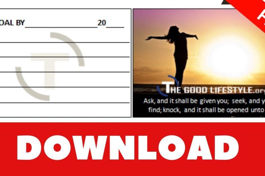 Earl Nightingale Goal Card PDF Download